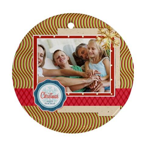 Xmas By Joy   Ornament (round)   22z0za06fd5r   Www Artscow Com Front