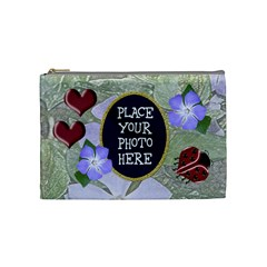 Ladybug Cosmetic Bag Medium By Chere s Creations   Cosmetic Bag (medium)   Wmaw4tuxblb6   Www Artscow Com Front