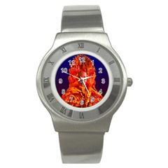 Organic Meditation Stainless Steel Watch (slim) by icarusismartdesigns