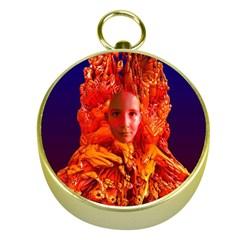 Organic Meditation Gold Compass by icarusismartdesigns