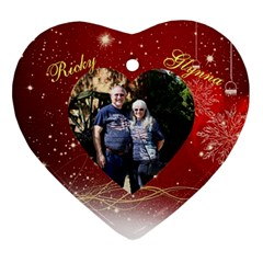 Mom  By Maria Dean   Heart Ornament (two Sides)   65ckm4ogh6r3   Www Artscow Com Front