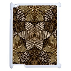 Golden Animal Print  Apple Ipad 2 Case (white) by OCDesignss
