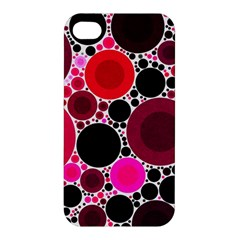 Retro Polka Dot  Apple Iphone 4/4s Hardshell Case by OCDesignss