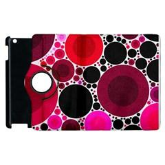 Retro Polka Dot  Apple Ipad 2 Flip 360 Case by OCDesignss