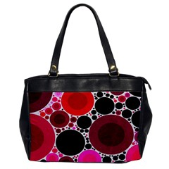 Retro Polka Dot  Oversize Office Handbag (one Side) by OCDesignss