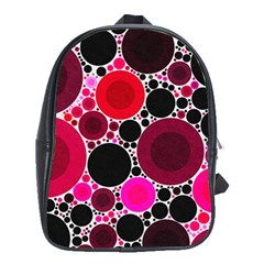 Retro Polka Dot  School Bag (xl) by OCDesignss