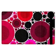 Retro Polka Dot  Apple Ipad 2 Flip Case by OCDesignss