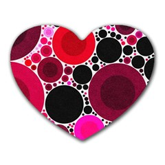 Retro Polka Dot  Mouse Pad (heart) by OCDesignss