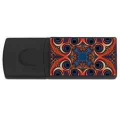 Beautiful Fractal Twirls  2GB USB Flash Drive (Rectangle) by OCDesignss