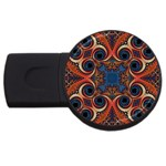 Beautiful Fractal Twirls  4GB USB Flash Drive (Round) Front