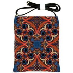 Beautiful Fractal Kelidescopee  Shoulder Sling Bag by OCDesignss