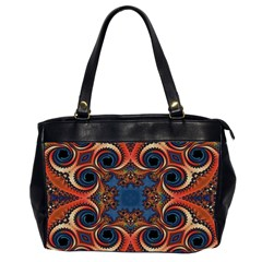 Beautiful Fractal Kelidescopee  Oversize Office Handbag (two Sides) by OCDesignss