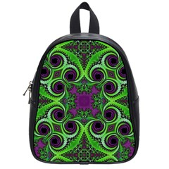 Purple Meets Green School Bag (small) by OCDesignss