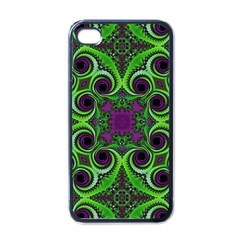 Purple Meets Green Apple Iphone 4 Case (black) by OCDesignss