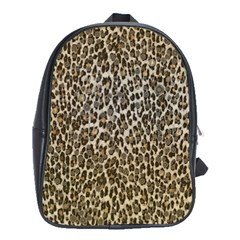 Chocolate Leopard  School Bag (xl) by OCDesignss