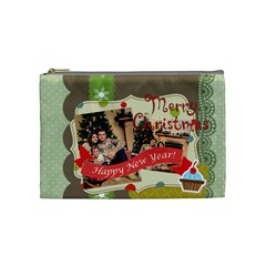 Xmas By Xmas   Cosmetic Bag (medium)   8qcxtrh7yldj   Www Artscow Com Front