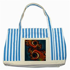 Dragon  Blue Striped Tote Bag by OCDesignss