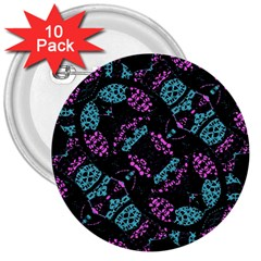 Ornate Dark Pattern  3  Button (10 Pack) by dflcprints