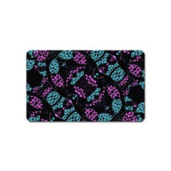 Ornate Dark Pattern  Magnet (name Card) by dflcprints
