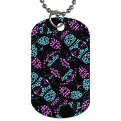 Ornate Dark Pattern  Dog Tag (two Sided)  by dflcprints
