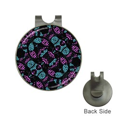 Ornate Dark Pattern  Hat Clip With Golf Ball Marker by dflcprints