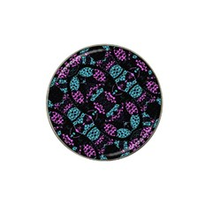 Ornate Dark Pattern  Golf Ball Marker (for Hat Clip) by dflcprints