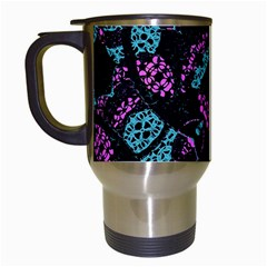 Ornate Dark Pattern  Travel Mug (White) by dflcprints