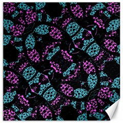 Ornate Dark Pattern  Canvas 20  X 20  (unframed) by dflcprints