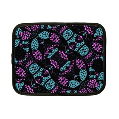 Ornate Dark Pattern  Netbook Sleeve (small) by dflcprints