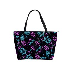 Ornate Dark Pattern  Large Shoulder Bag by dflcprints