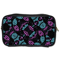 Ornate Dark Pattern  Travel Toiletry Bag (two Sides) by dflcprints
