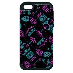 Ornate Dark Pattern  Apple Iphone 5 Hardshell Case (pc+silicone) by dflcprints