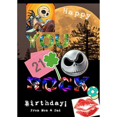 Chriscard By Deborah   You Rock 3d Greeting Card (7x5)   Zlare84ilumf   Www Artscow Com Inside