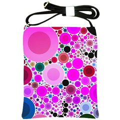 Bubble Gum Polkadot  Shoulder Sling Bag by OCDesignss