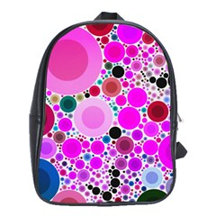 Bubble Gum Polkadot  School Bag (xl) by OCDesignss