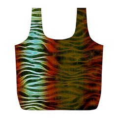 Earthy Zebra Reusable Bag (L) by OCDesignss