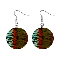 Earthy Zebra Mini Button Earrings by OCDesignss
