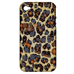 Cheetah Abstract Apple Iphone 4/4s Hardshell Case (pc+silicone) by OCDesignss