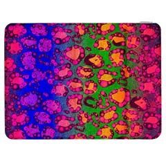 Florescent Cheetah Samsung Galaxy Tab 7  P1000 Flip Case by OCDesignss