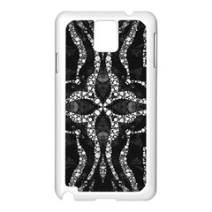 Black Onyx  Samsung Galaxy Note 3 N9005 Case (white) by OCDesignss