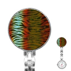 Earthy Zebra Stainless Steel Nurses Watch