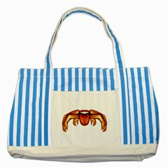 Alien Spider Blue Striped Tote Bag by dflcprints