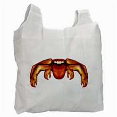Alien Spider White Reusable Bag (one Side)
