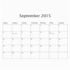 Drunkle Jeff Calender By Sarah   Wall Calendar 11  X 8 5  (12 Months)   Addz756t1tif   Www Artscow Com Sep 2015