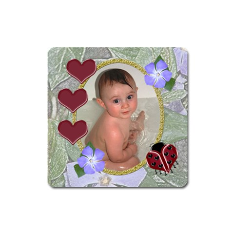 Ladybug Magnet Square By Chere s Creations Front