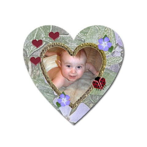 Ladybug Magnet Heart By Chere s Creations   Magnet (heart)   38bklzi3c1wt   Www Artscow Com Front