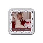 Tis The Season Rubber Square Coaster 4 pack - Rubber Square Coaster (4 pack)