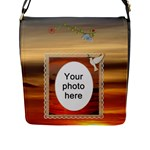 Sunset Beauty Flap Closure Messanger Bag (Large) - Flap Closure Messenger Bag (L)