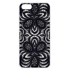 Twisted Zebra  Apple Iphone 5 Seamless Case (white) by OCDesignss