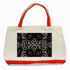 Twisted Zebra  Classic Tote Bag (red) by OCDesignss